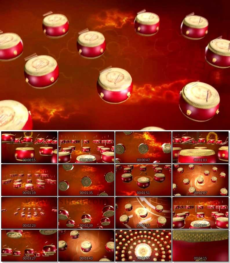 LED大屏幕视频-兄弟干杯喜庆震撼鼓舞背景视频