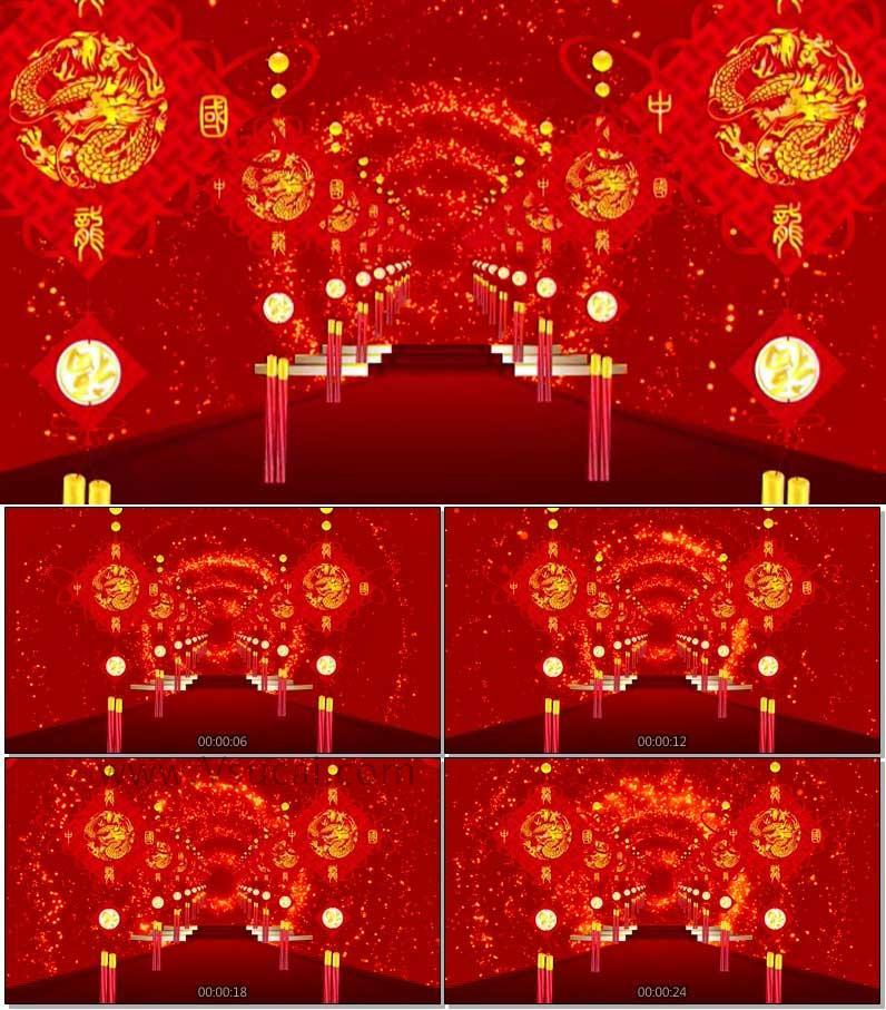 LED大屏幕视频-喜庆中国结