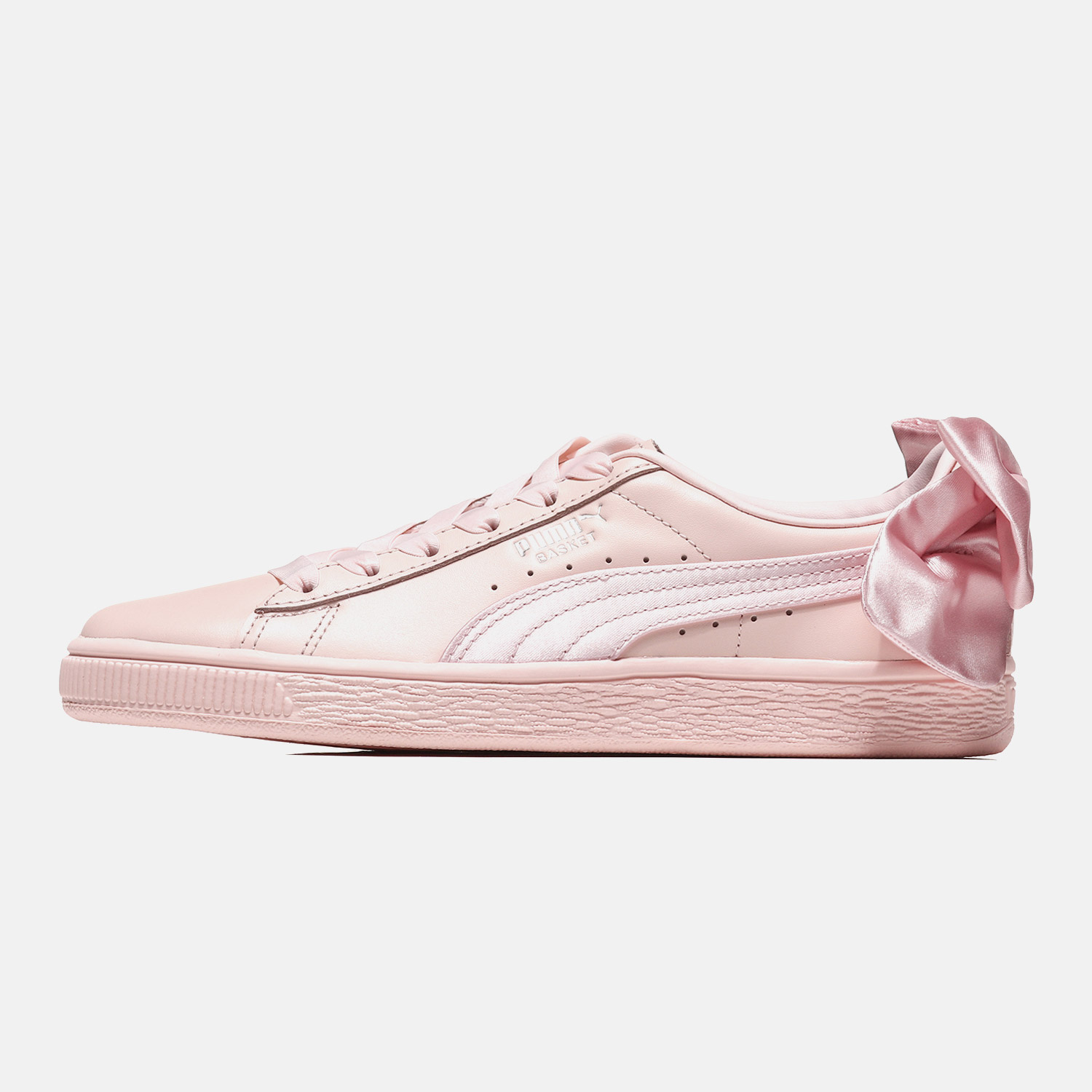 70f89f10f12fa3 puma cherry pink board shoes women s white shoes SUEDE Bow Bow Puma shoes  female gulina with