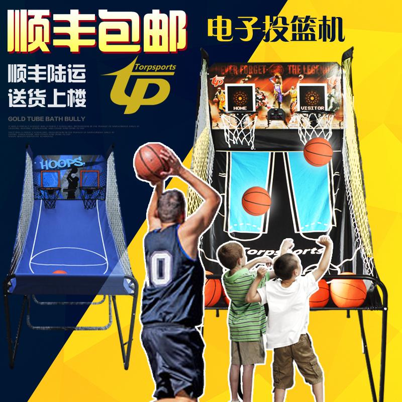 Бесплатная доставка автоматическая считать филиал комнатный электронный в корзину машинально для взрослых ребенок один двойной баскетбол в корзину игра