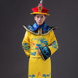 New style dragon robe emperor costume costume cos ancient Chinese Qing Dynasty costume Ming Dynasty Hanfu embroidered dragon yellow men's clothing