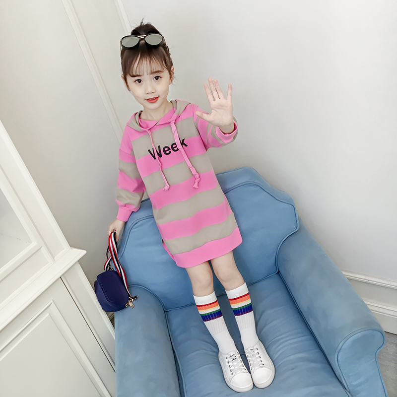 Girls sweater autumn 2019 new Korean children spring and autumn tide girl tide long section of the long-sleeved shirt