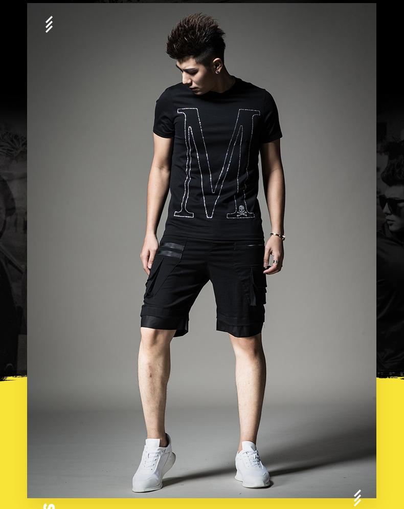 SXF Saint Xi Fan quần short nam mùa hè thể thao giản dị quần bãi biển cá tính khâu yếm triều của nam giới năm quần