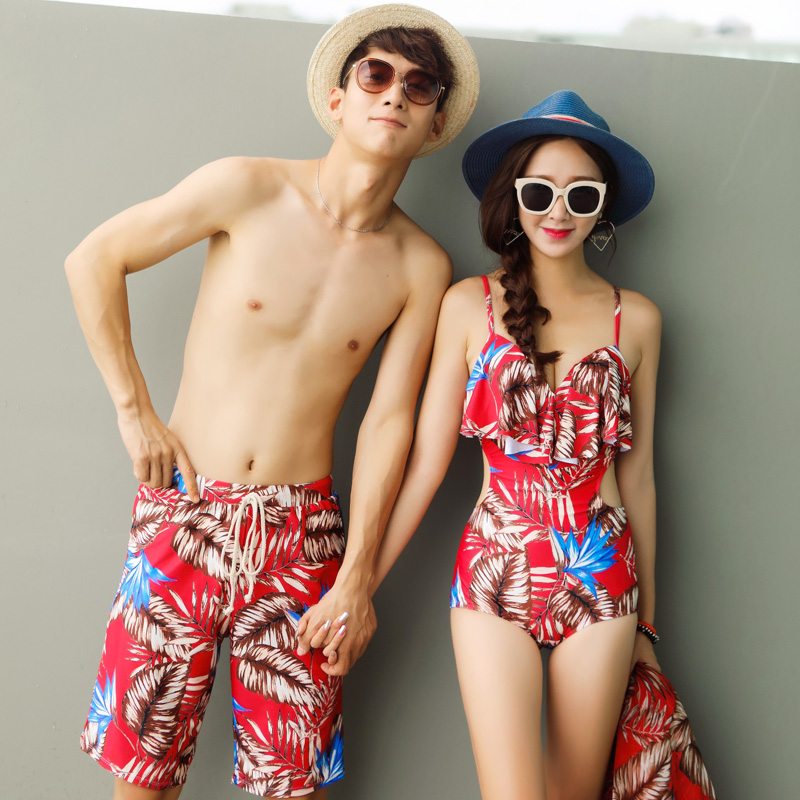 c4270304e9 Sexy one-piece couple swimsuit female cover belly bikini three-piece beach  pants seaside. Zoom · lightbox moreview · lightbox moreview · lightbox  moreview ...