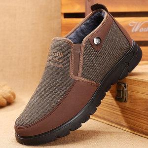 老北京布鞋男冬季男士中老年人棉鞋加绒加厚保暖爸爸鞋子防滑男式