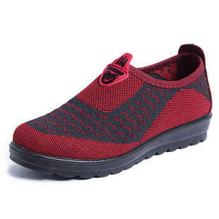 中年布鞋春秋女鞋平底单鞋奶奶鞋