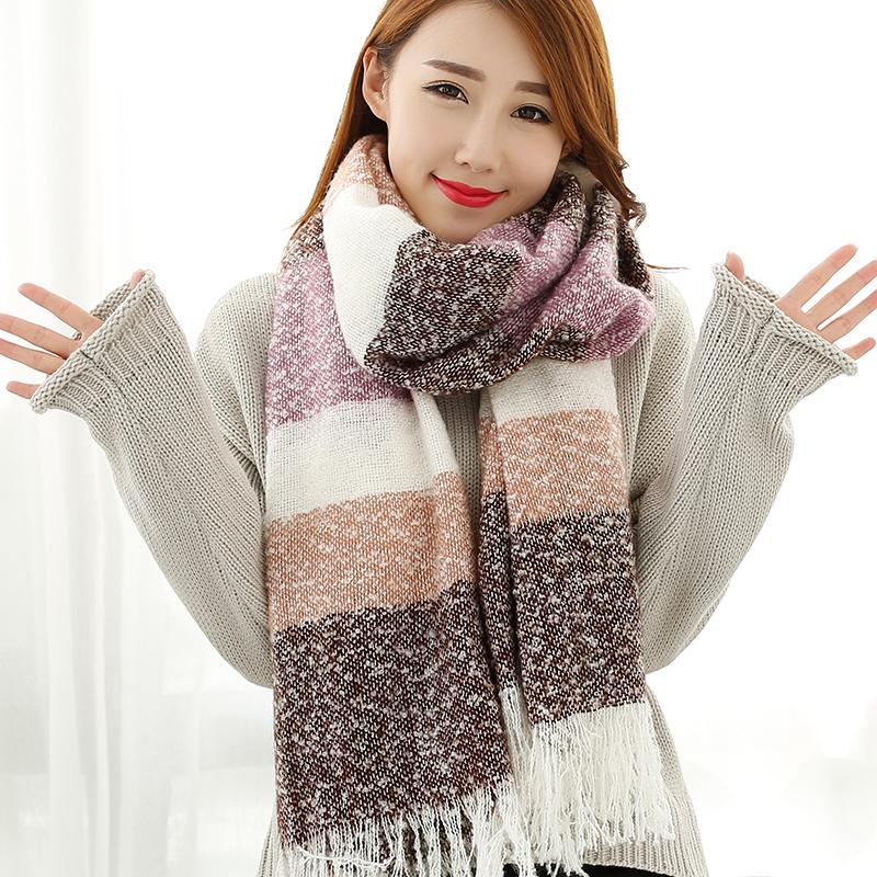 冬季韩版加厚长款披肩女士围巾