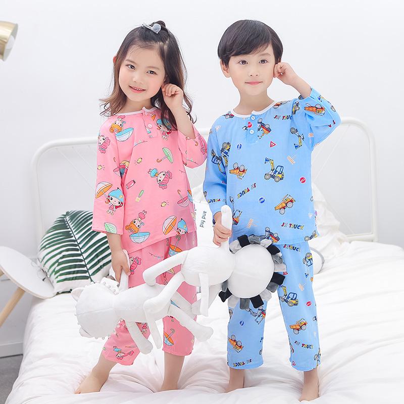 儿童夏季家居服棉绸睡衣