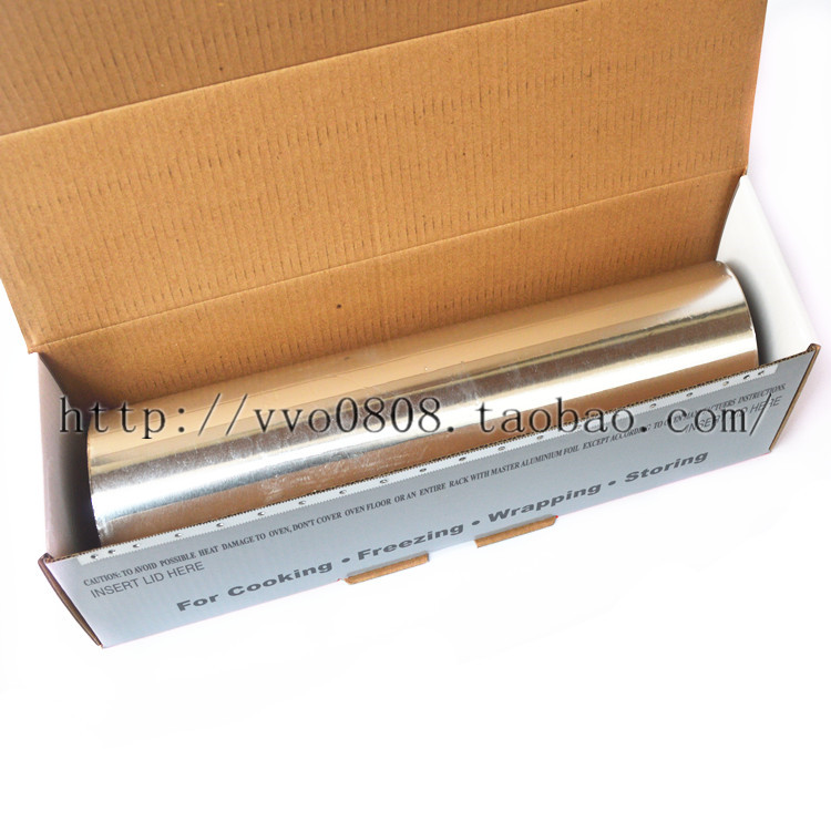 Tinfoil aluminum foil paper barbecue roast chicken thickened oven tinfoil  30cm*120 meters