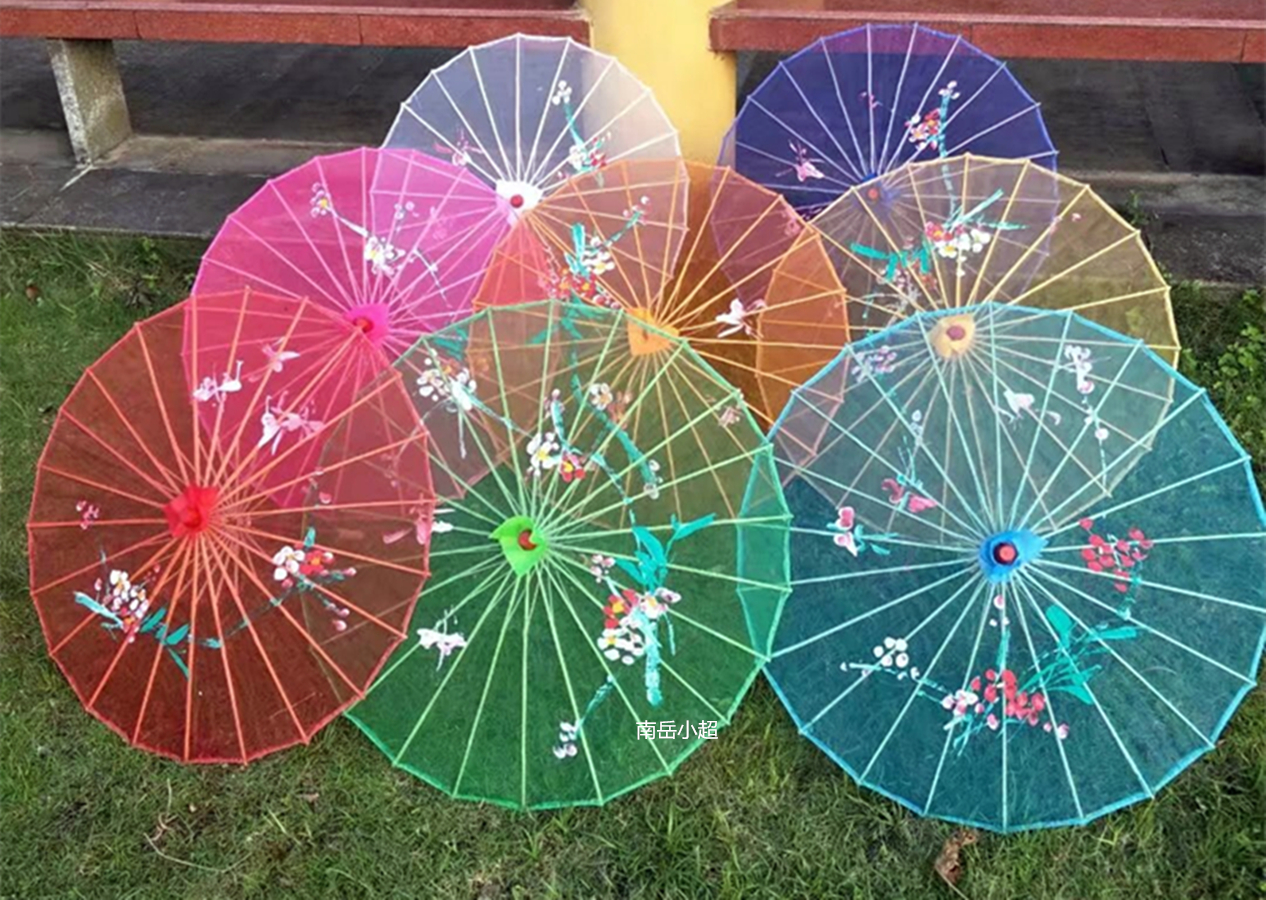 Бесплатная доставка по китаю Танец зонтик представление реквизит зонтик потолочный зонт Jiangnan древний классический Декоративный зонтик, пряжа Хуан, прозрачный зонтик, чеонгам, зонтик