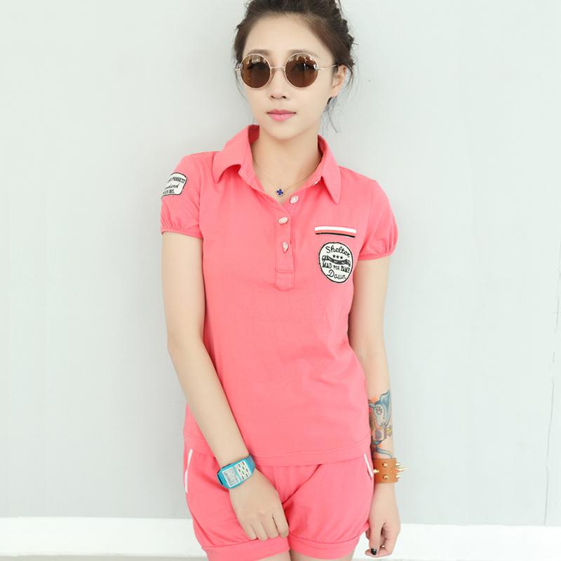 娇玲蝶 少女夏季韩版短袖七分套装