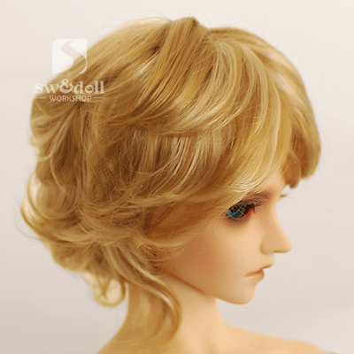 taobao agent Uncle BJD Wig 3 points 4 points 6 points 8 points DD giant baby SD doll 4 colors imitation mohair JW047 Korean roll