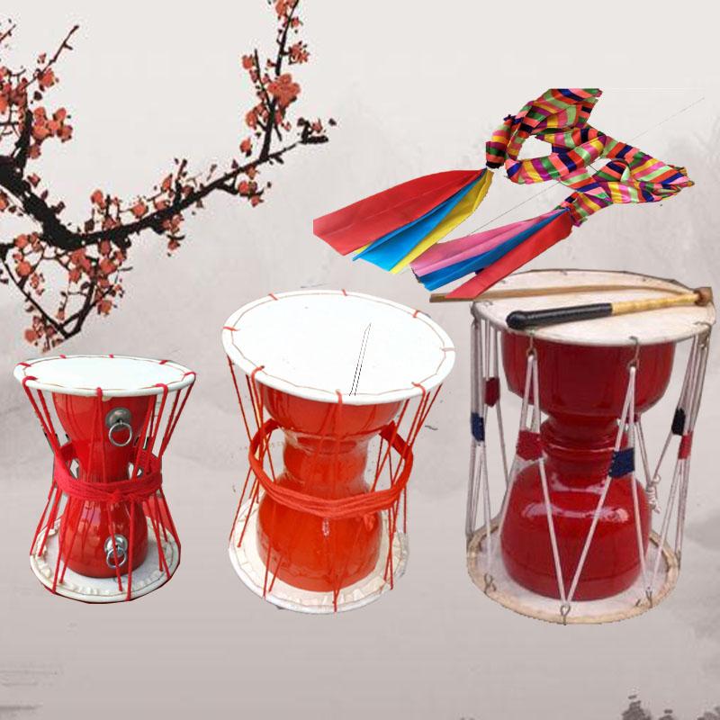 Бесплатная доставка к свежий долго барабан к свежий народ для взрослых ребенок танец реквизит барабан воловья кожа шнурок барабан корея барабан хорошо ударные