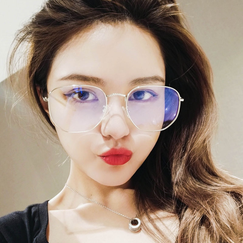 e9d90a0107 Myopia glasses female net red models plain artifact glasses frame female  big box round face i