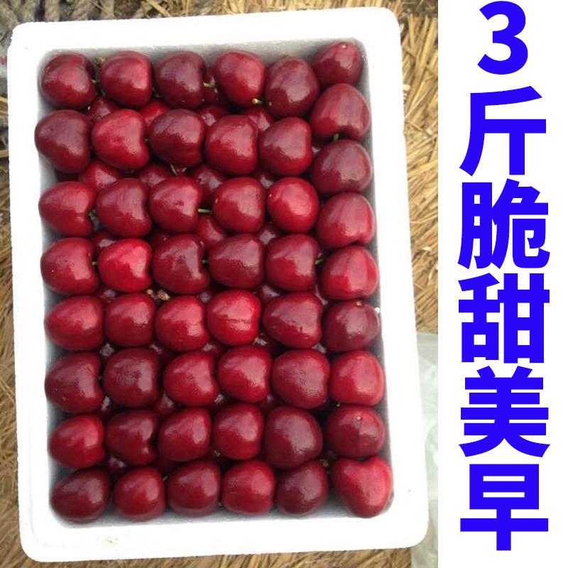 现货现卖的美早大水果3斤珍珠车厘子黑烟台新鲜樱桃包邮