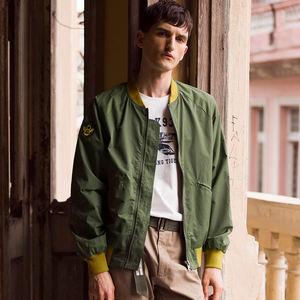 AK男装 春季新款绣花棒球服美式飞行员MA-1修身夹克男士外套潮流