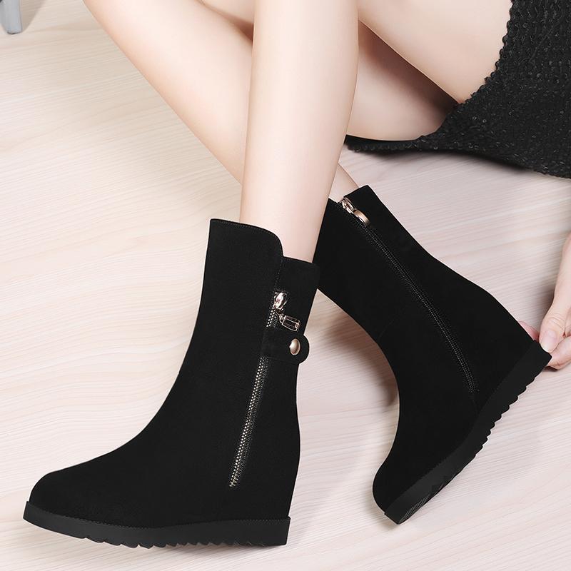 中筒靴女靴内增高雪地靴