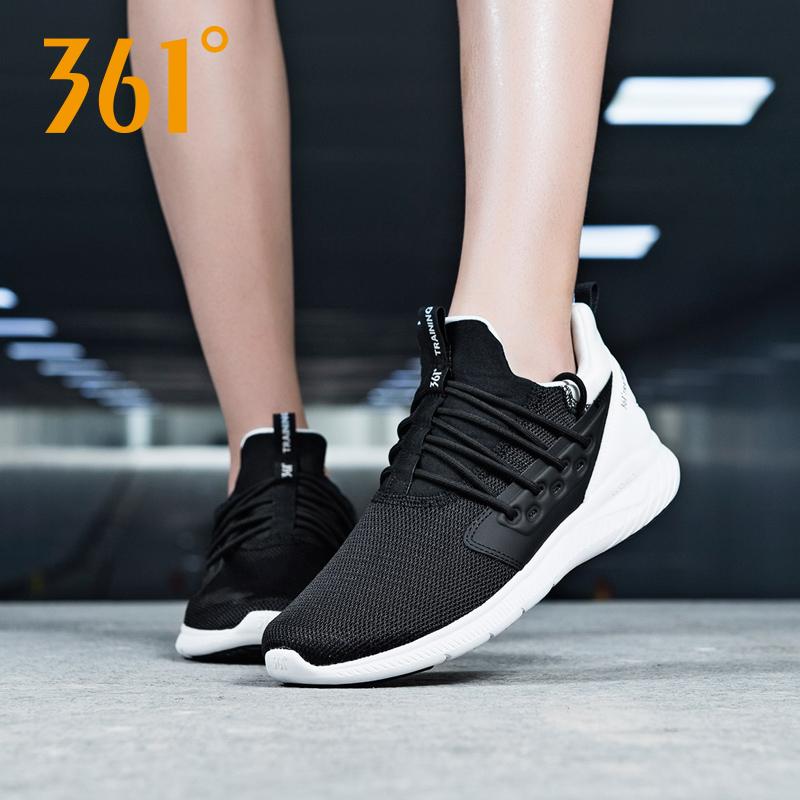 fcd7f9671 361 Degrees sports shoes women s shoes summer breathable lightweight  jogging shoes black casual shoes net shoes soft bottom running shoes women