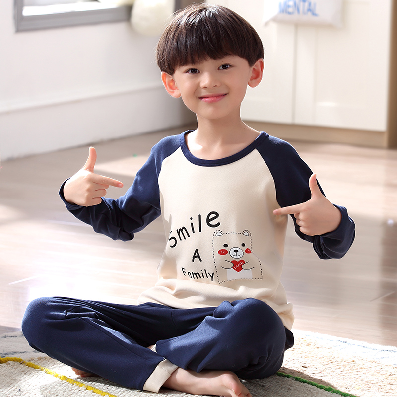 Boys pajamas spring and autumn long-sleeved cotton children s ... d838b10a3