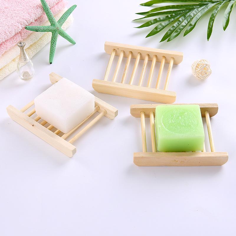 用具创意香皂木质盒卫生间大沥水盒免打孔家用置物架家居用品肥皂