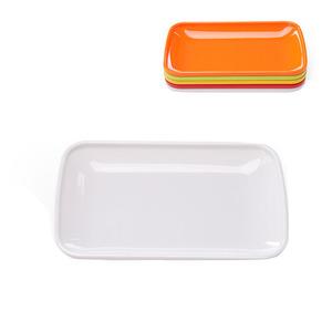 塑料托盘长方形密胺商用饭店餐具中式快餐加厚防滑上菜盘酒店圆形