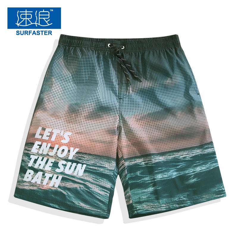 Футболки с длинными рукавами мужской Быстрая сушка большой размер Свободные плавательные сундуки для отдыха Шорты 5 очков модные Цветочные брюки