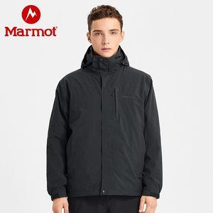 marmot土拨鼠2019秋冬新品户外运动防水透气抓绒男式三合一冲锋衣