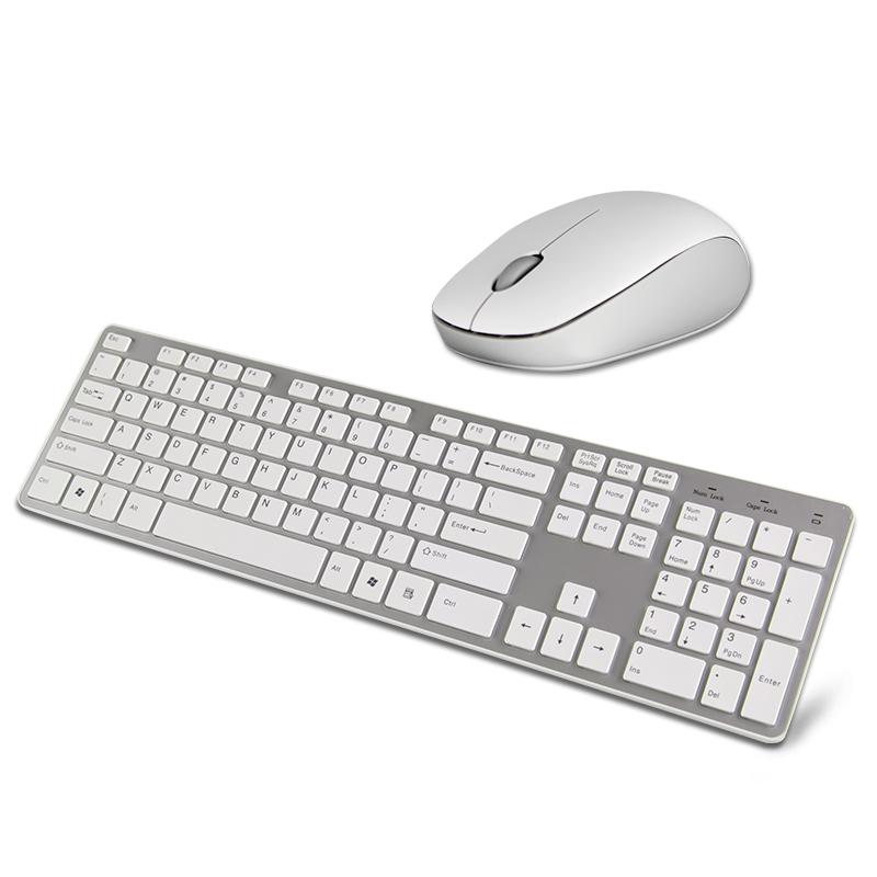 键盘鼠标套装 无线静音白色超薄台式电脑笔记本键鼠套装游戏办公