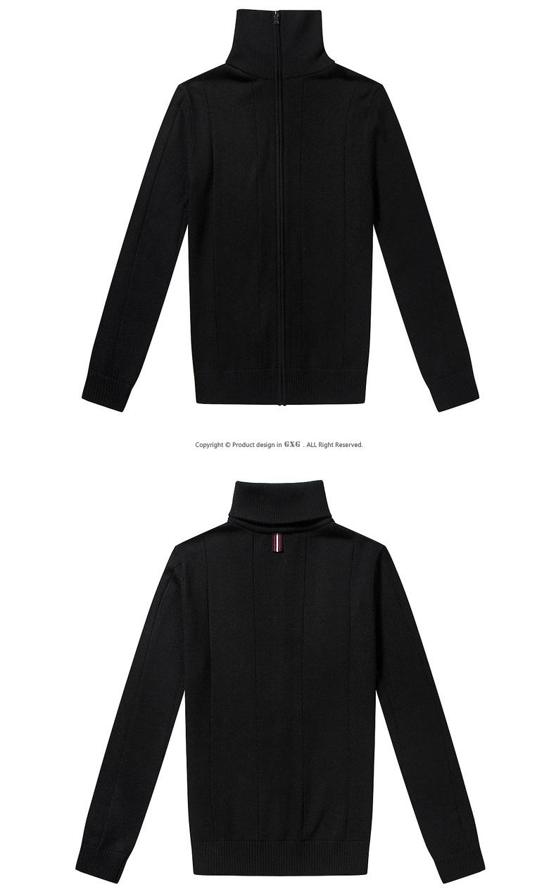 GXG nam mùa thu của nam giới mỏng thời trang Casual đô thị Pop Đen áo len nam # 64130518