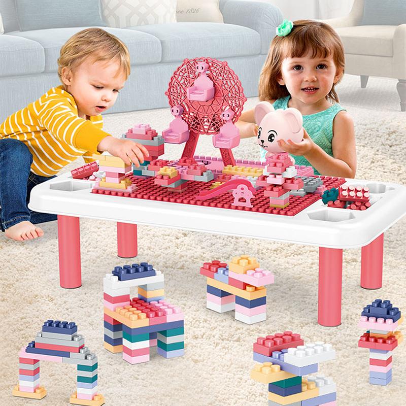 【儿童益智】宝宝多功能积木桌子