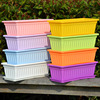 Pots rectangular vegetable pots long strips of vegetables balcony planting box thick plastic large flower pot tray