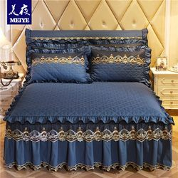 European-style bedspread bed skirt quilted princess lace bed skirt one-piece bedspread bed cover non-slip bed apron bed cover cover