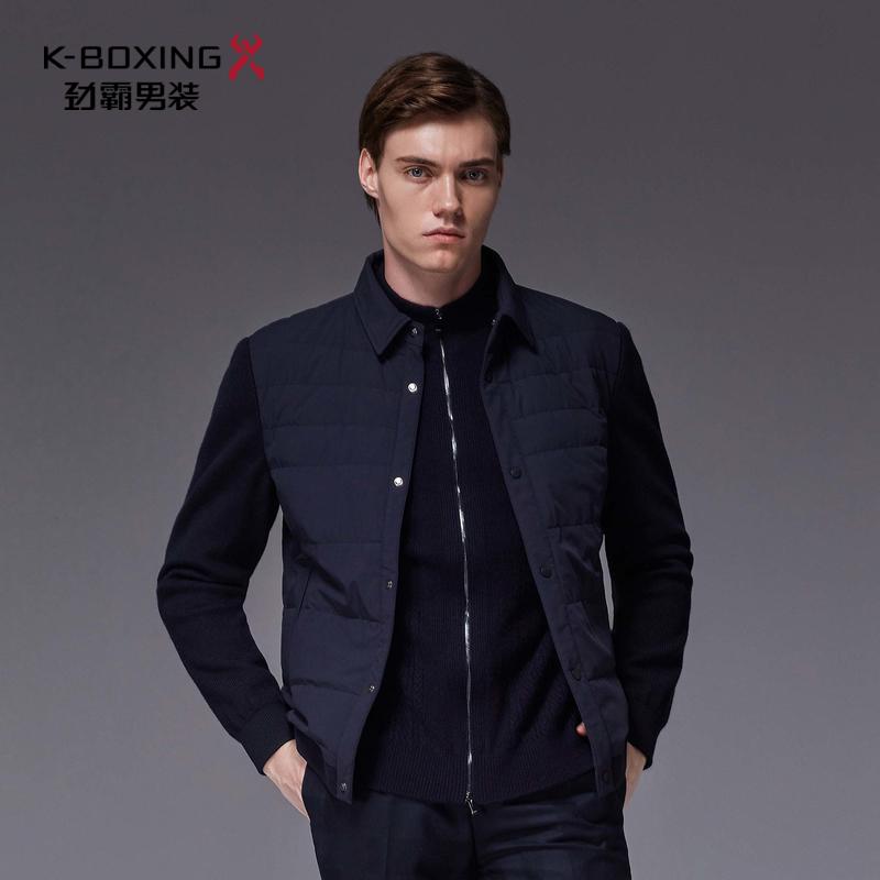 劲霸羽绒服男 2018冬季新款短款夹克外套品牌男装正品|BRDL3101