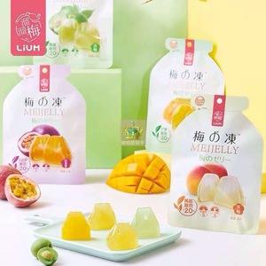 【溜溜梅 梅の冻120g*2袋】代餐低卡0脂零食布丁日本蒟蒻果汁果冻