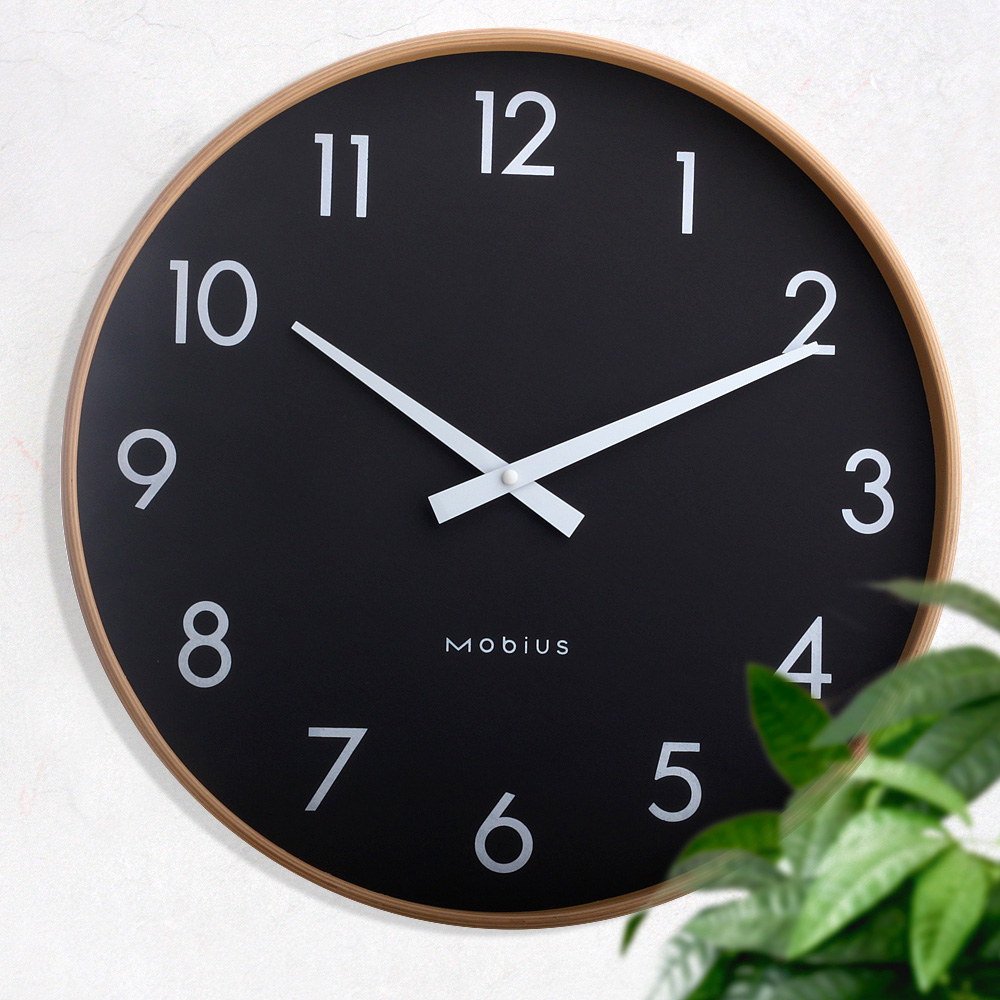 Usd Nordic Large Wood Wall Clock Mute Living Room
