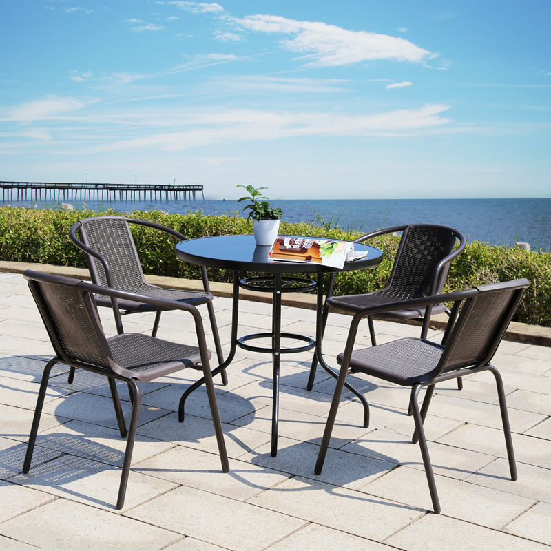 Usd 147 89 Outdoor Table And Chair Rattan Chair Iron Simple Leisure