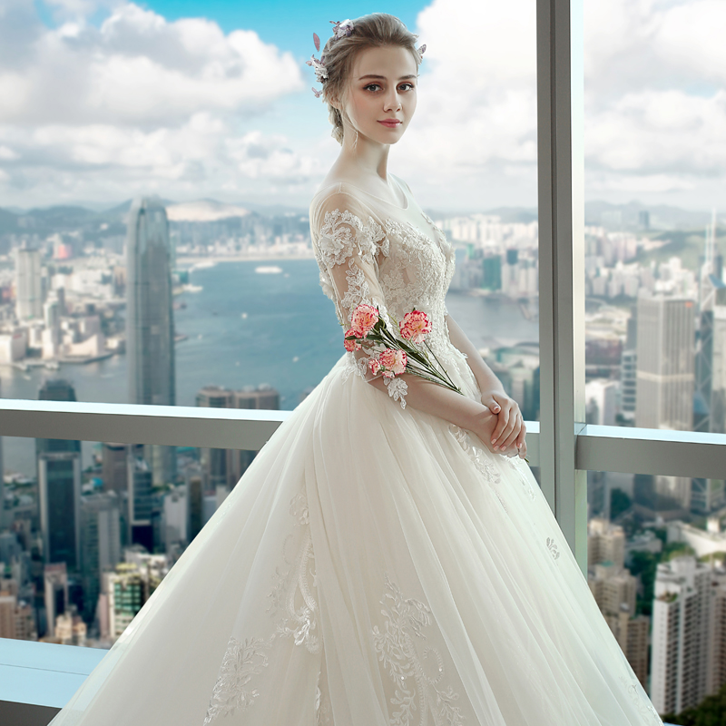 Wedding dress 2018 the new European and American Palace word ...