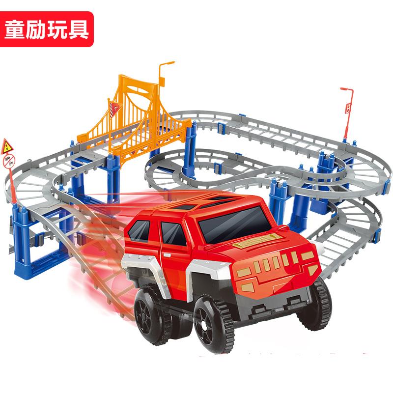 童励托拖马斯小火车 电动小火车套装轨道车电动火车儿童男孩玩具