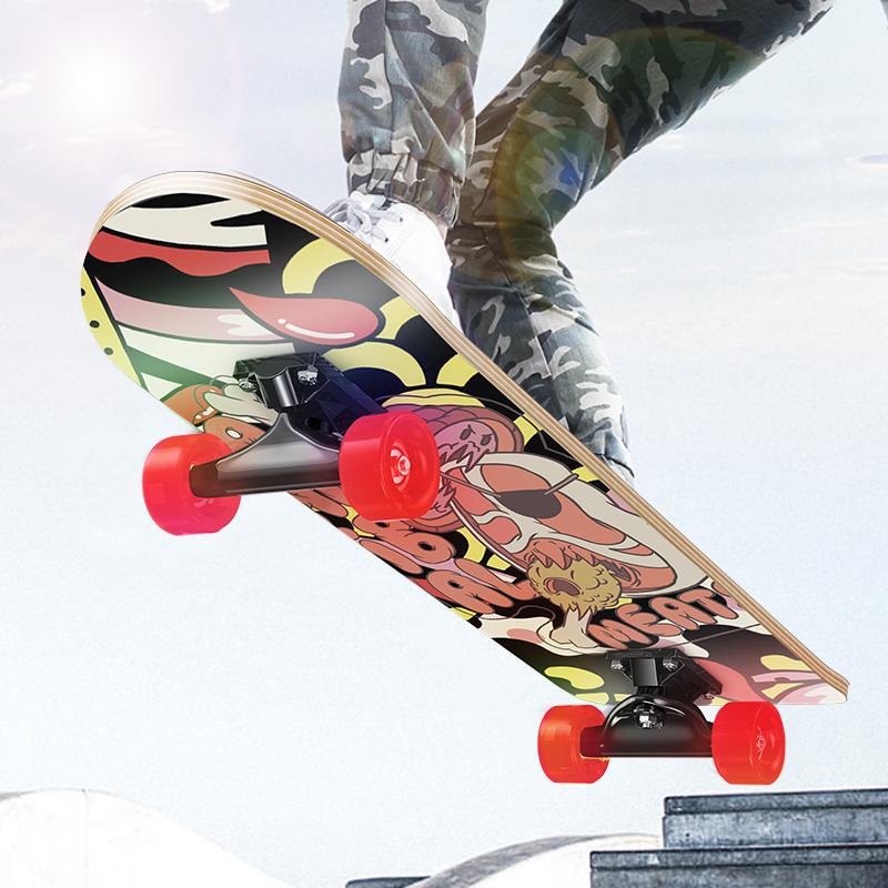 四轮滑板初学者儿童滑板车青少年成人专业双翘板男孩女生成年划板