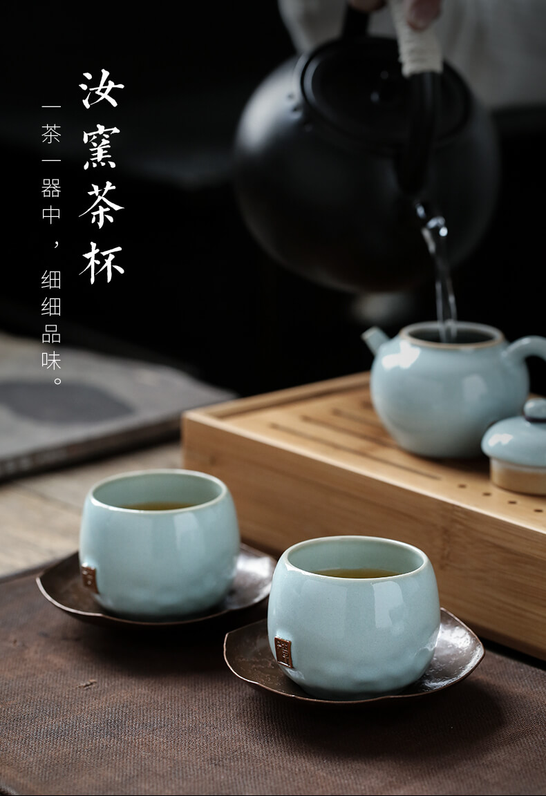 Ultimately responds to up ceramic cups master cup single CPU slicing can raise large sample tea cup single lamp that kung fu tea cups