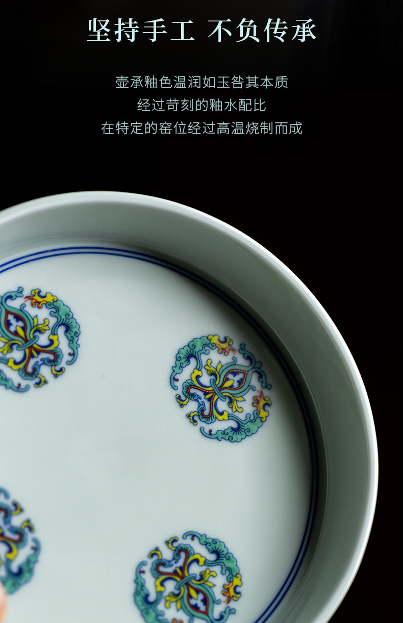 Ultimately responds to high - end glair pot bearing household jingdezhen retro Japanese ceramic tea set contracted dry terms tray of the teapot