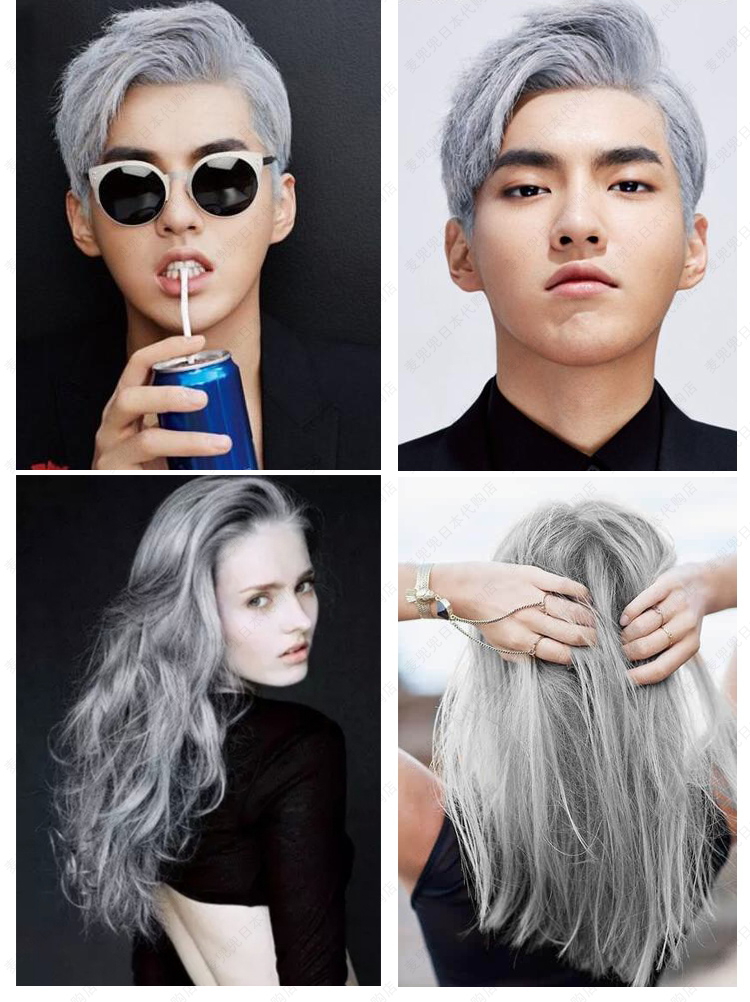 Color Hair Styling Wax Dye Your Hair In Just A Minute Grey Lazada