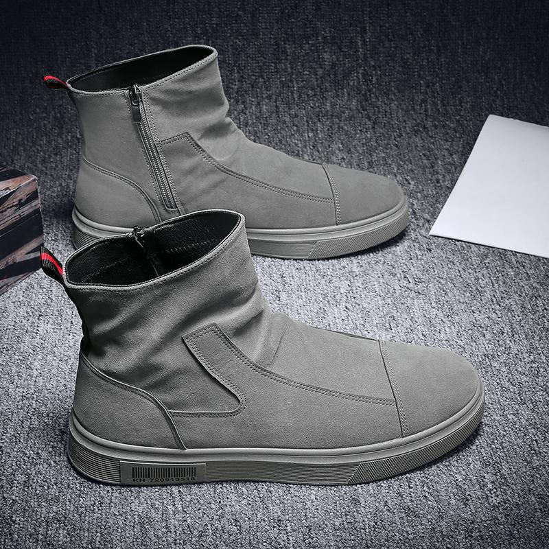 Осень мужская обувь корейский высокий обувь педаль бездельник кожаная обувь 2020 новый тенденция досуг молодежь обувь