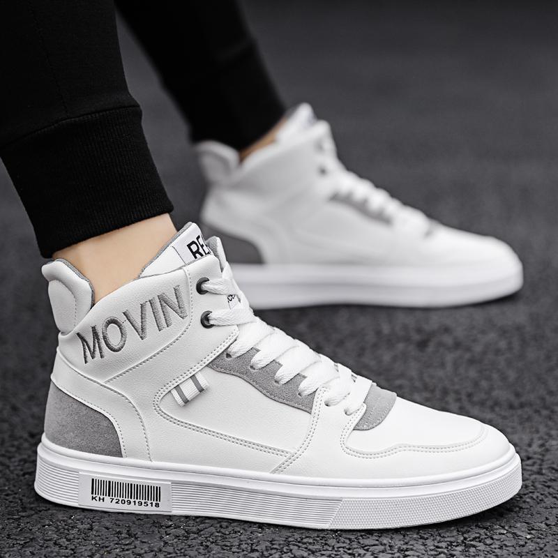 Осень мужская обувь дикий высокий обувной 2020 новый тенденция спортивный досуг подростков обувь маленький корейский белый обувь