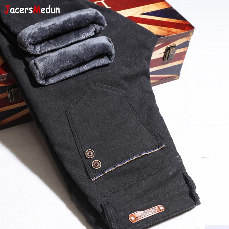 Брюки хлопчатобумажные Мужские матовый хлопок брюки плюс бархатные толстые зимние мужские брюки большой ярдов упругой теплые брюки мужские хлопок брюки верхняя одежда брюки