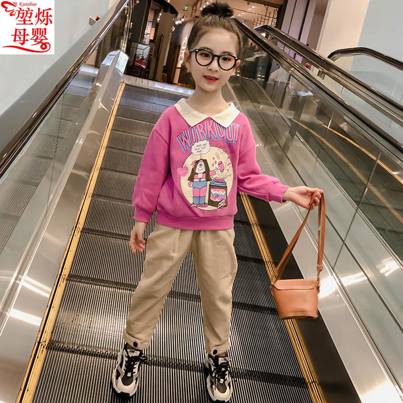 童装套装2020年新款韩版春秋装中大件套女童洋气a童装春季两童儿潮