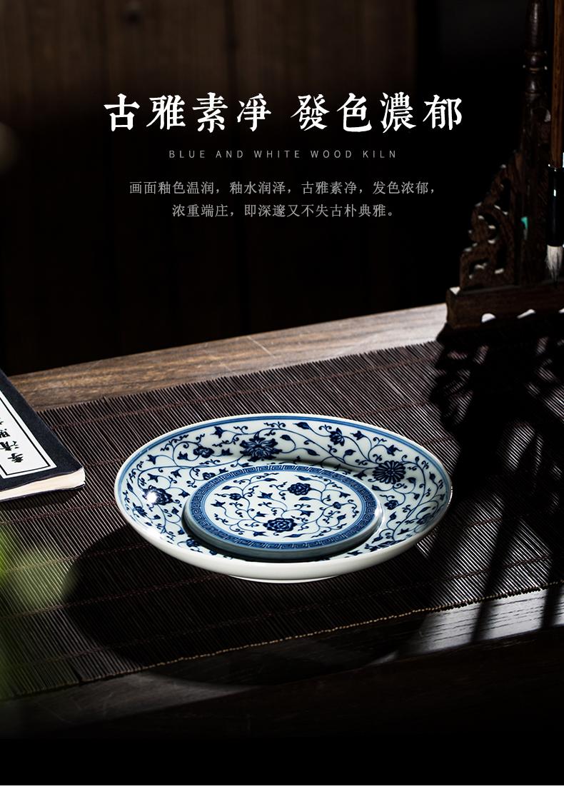 Clock home bearing jingdezhen porcelain up pot maintain bound branch pattern pot bearing do make a pot of bearing plate of water are it