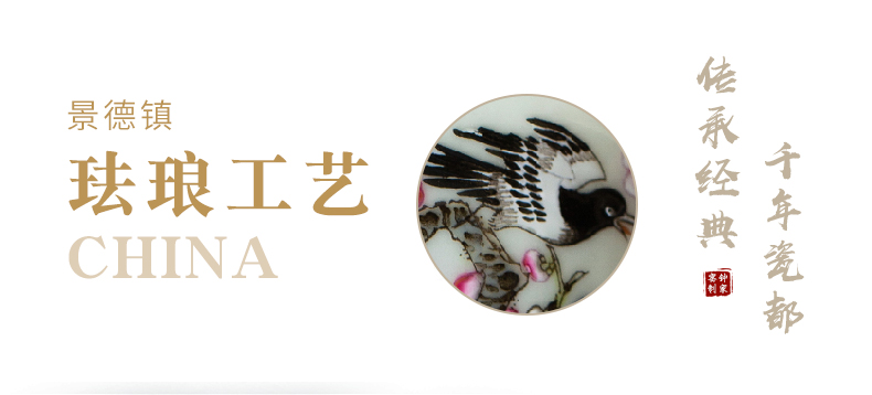 Clock home up with jingdezhen ceramic cups manual colored enamel masters cup kung fu tea sample tea cup beaming