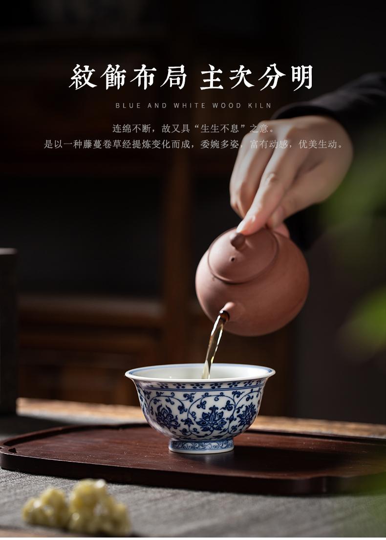 Clock home hand - made porcelain up yongle pressure of jingdezhen ceramic sample tea cup cup master cup single CPU kung fu tea cups