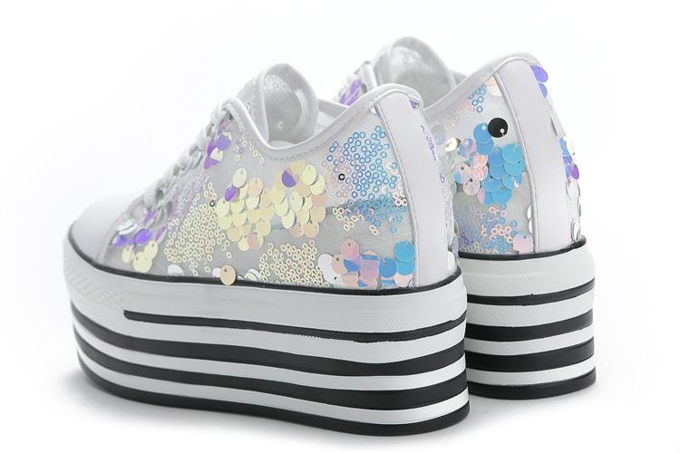 春季女鞋鬆糕新款休閒厚底透气内增高小白百搭运动鞋单鞋详细照片